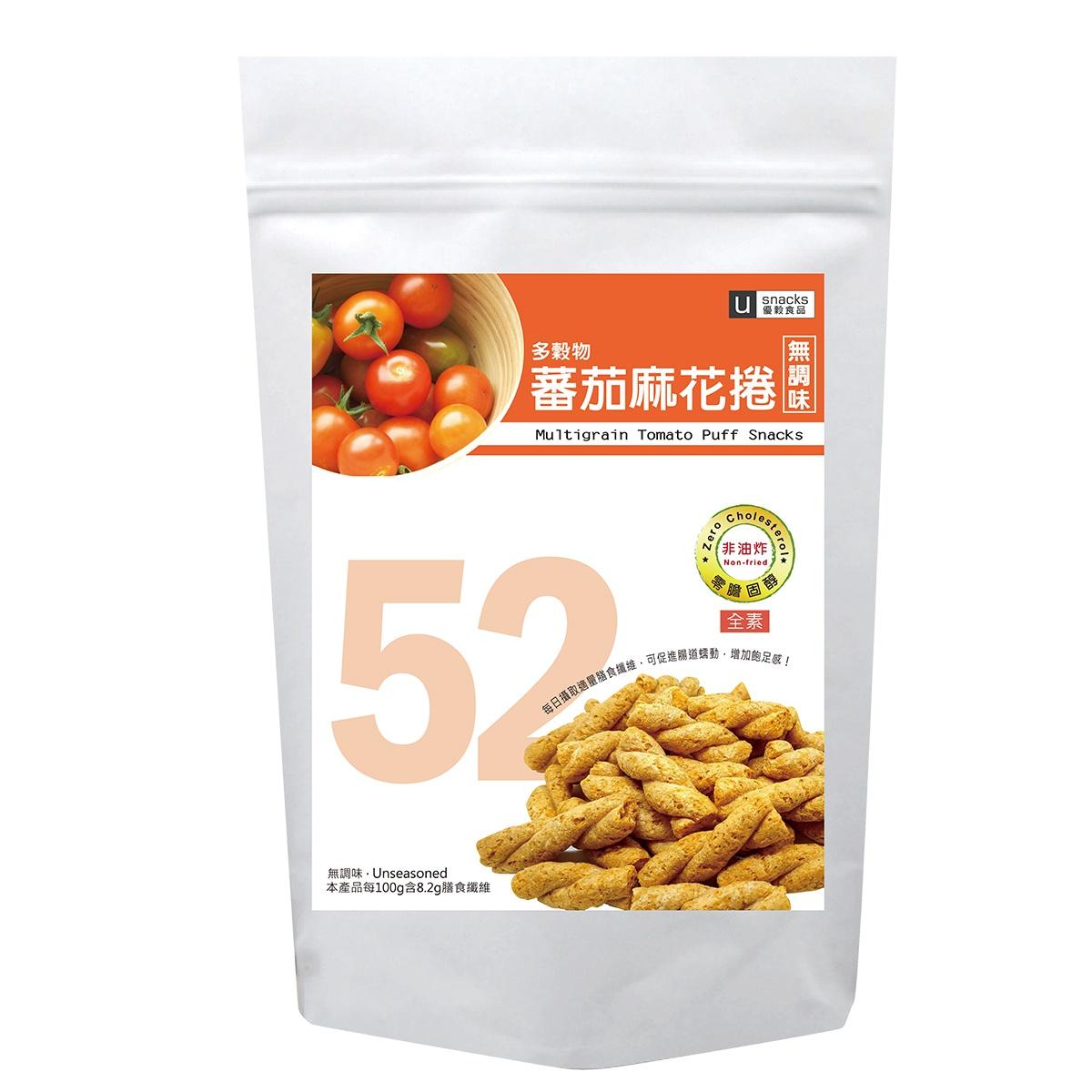 多穀物蕃茄麻花捲(未調味) 120g